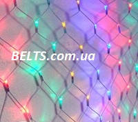 Гирлянда сетка 260 LED (новогодняя сетка-гирлянда мультицветная)