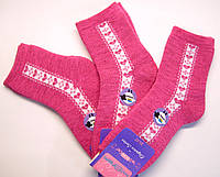 Шерстяные носки женские малинового цвета
