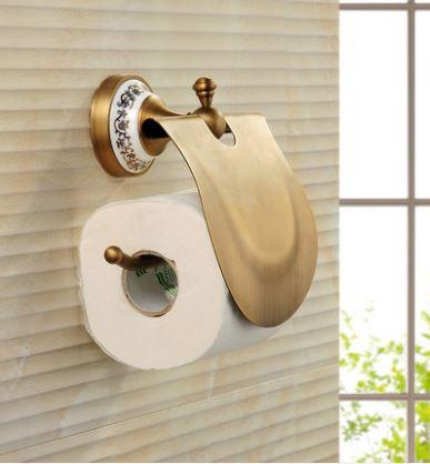Тримач туалетного паперу бумагодержатель з кришкою 0270