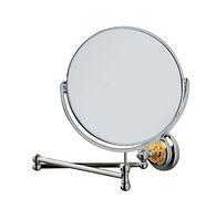 Зеркало косметическое выдвижное Lineatre Novecentottanta Италия хром/золото