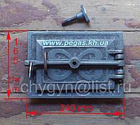 Дверка поддувальная чугунное литье (165х240 мм), фото 1