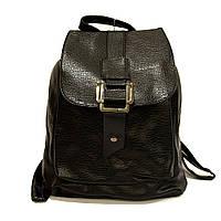 Черный модный городской рюкзак классика