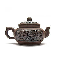 """Чайник глина с ситом """"Дракон"""" (10.5х17х10,5 см)"""