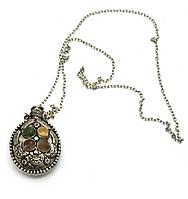 """Аромакулон бронзовый с камнями """"Овал"""" (4х5,5х2 см)"""