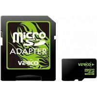 Карта памяти Verico Micro SD+Adapter 8Gb (4 class) Тех. пакет