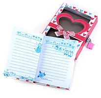 Блокнот с замком для девочек красный (2 ключа)(16,5х13х3 см)