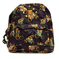 Фиолетовый стильный городской рюкзак женский Медведи