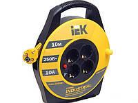 "Катушка УК10 с т/з 4 места 2Р+PЕ/10м 3х1,5 мм2 ""Industrial"" IEK (WKP15-16-04-10)"
