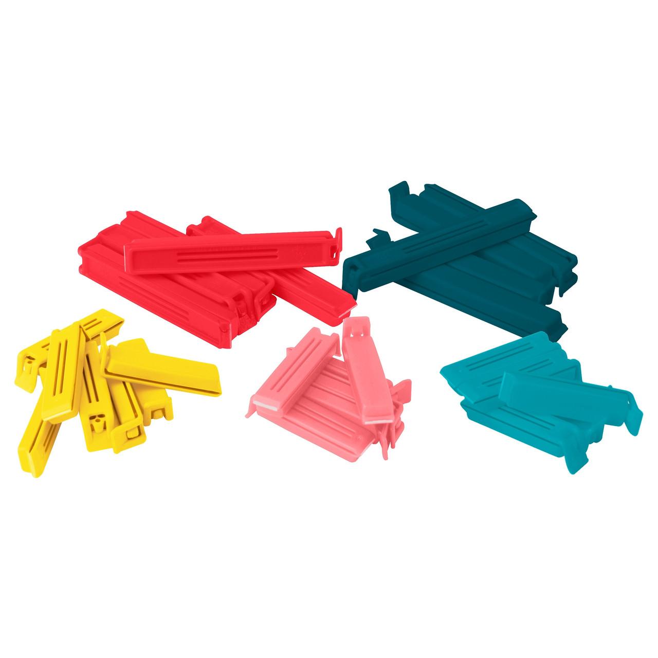 BEVARA Зажим для пакетов,30 штук, разные цвета, различные размеры 103.391.71