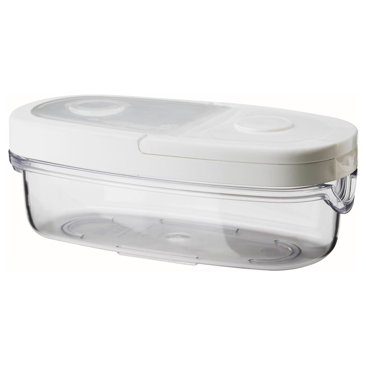 IKEA 365+ Контейнер+крышка д/сухих продуктов, прозрачный, белый 800.667.18