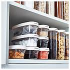 IKEA 365+ Контейнер+крышка д/сухих продуктов, прозрачный, белый 800.667.18, фото 3