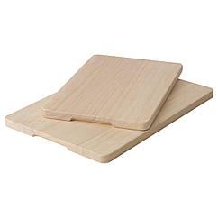 MAGASIN Набор разделочных досок,2 штуки, каучуковое дерево 502.286.18