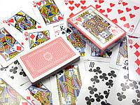 Карты игральные с пластиковым покрытием (9х6х1,8)(10/уп)(54к/п)