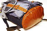 Рюкзак из джинсов и ярко рыжей кожи, фото 7