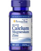 Puritans Pride Calcium Magnesium Zinc 100 caplet