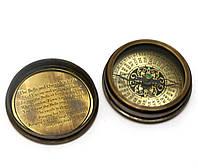 """Компас морской бронзовый """"Victorian pocket compas""""(d-6,h-2 см)"""