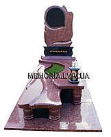 Гранітний одинарний памятник 1117