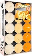 Свечи ароматические ваниль апельсин 30шт таблетки чайные