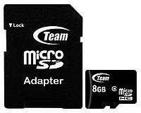 Карта памяти Team Micro SD+Adapter 8Gb 4 class