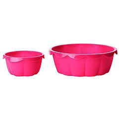 SOCKERKAKA Форма д/выпечки, 2 предм, розовый 002.566.23