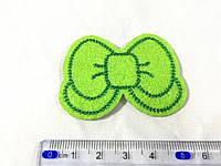 Нашивка бантик цвет зеленый