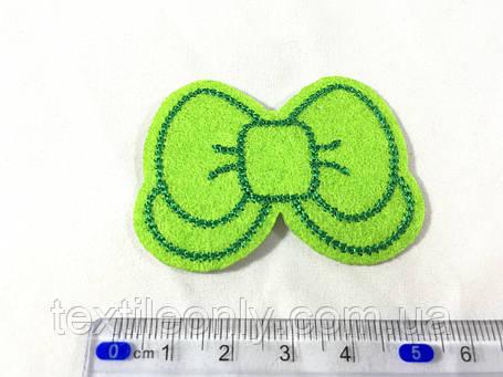 Нашивка бантик цвет зеленый, фото 2