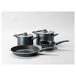 SKÄNKA Набор кухонной посуды, 6 предм., серый 601.495.31