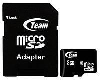Карта памяти Team Micro SD+Adapter 8Gb 10 Class