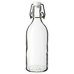 KORKEN Бутылка с пробкой, прозрачное стекло 203.224.72