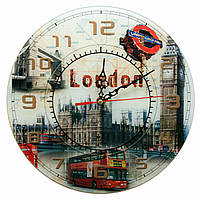 """Часы настенные """"Лондон"""" стекло (d-30 см)(тихий ход)"""