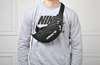 Стильная сумка на пояс,бананка адидас,adidas
