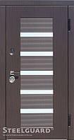 Двери входные металлические  MILANO Венге темный/Венге светлый 117 Cерия MAXIMA