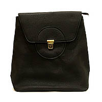 Сумка рюкзак черная женская из кожзаменителя классика