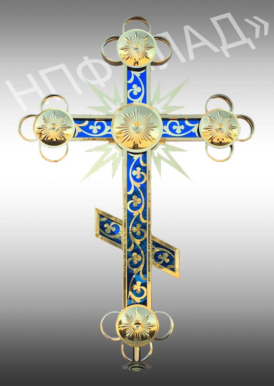 Новые православные кресты с напылением нитридом титана и цветной подложкой