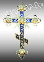 Новые православные кресты с напылением нитридом титана и цветной подложкой, фото 1