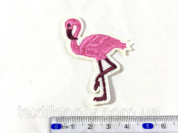 Нашивка фламинго 49х66 мм, фото 2