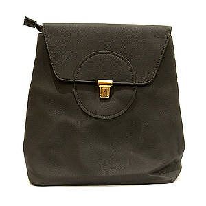 Сумка рюкзак серая женская из кожзаменителя классика
