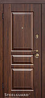 Двери входные металлические TermoScreen Темный орех/белый мат 117 Cерия MAXIMA