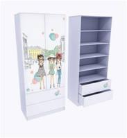 Шкаф с двумя ящиками с фотопечаттю