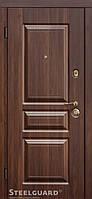 Двери входные металлические TermoScreen Темный орех 117 Серия MAXIMA