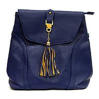 Сумка рюкзак синяя женская из кожзаменителя