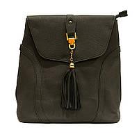 Сумка рюкзак женская из кожзаменителя серая