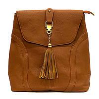 Сумка рюкзак женская из кожзаменителя коричневая