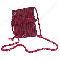 Вязаная сумочка для сматрфона и документов