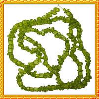 Бусины Сколы Кварц Оливковый Желтоватый, Крошка Кубиками, Размер: 4-6*4-6 мм. Отв. 1мм. около 85 с