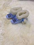 Чуни детские из натуральной овечий шерсти с вышывкой, фото 7