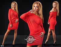 63707daf81f Короткое красное платье со стразами. Арт-9291 41  продажа