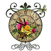 Часы настенные Роза Винтаж