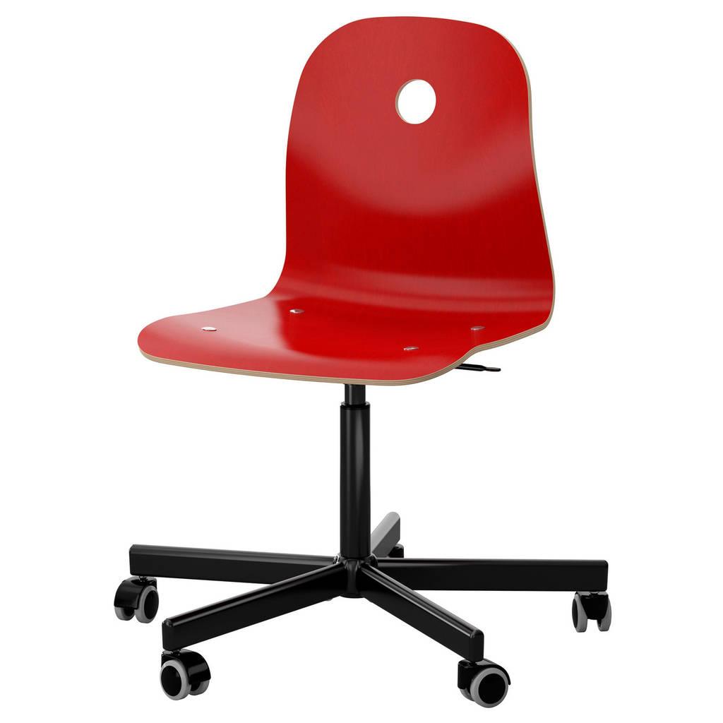 VÅGSBERG / SPORREN Рабочий стул, красный, черный