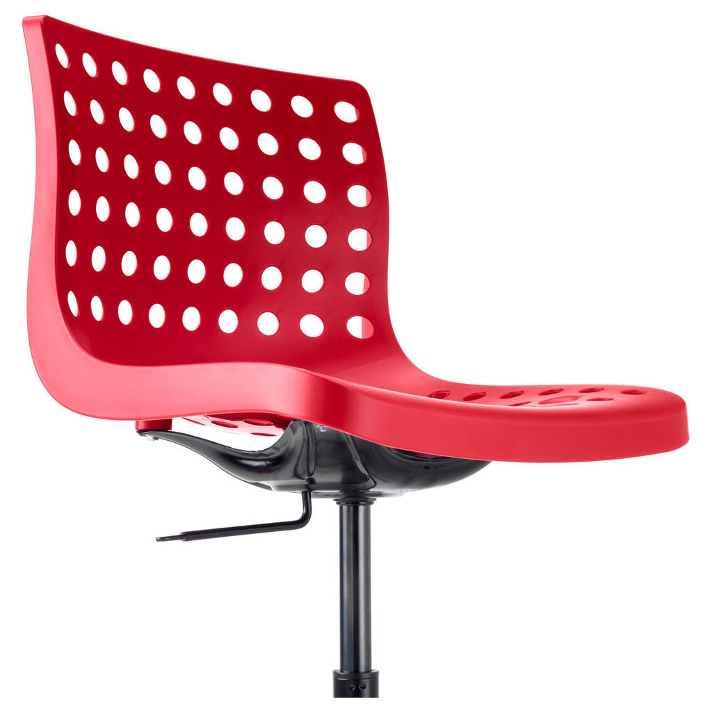 Стул IKEA SKÅLBERG / SPORREN красный черный 090.236.10
